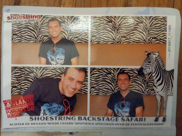 Backstage Safari Lowlands van Shoestring