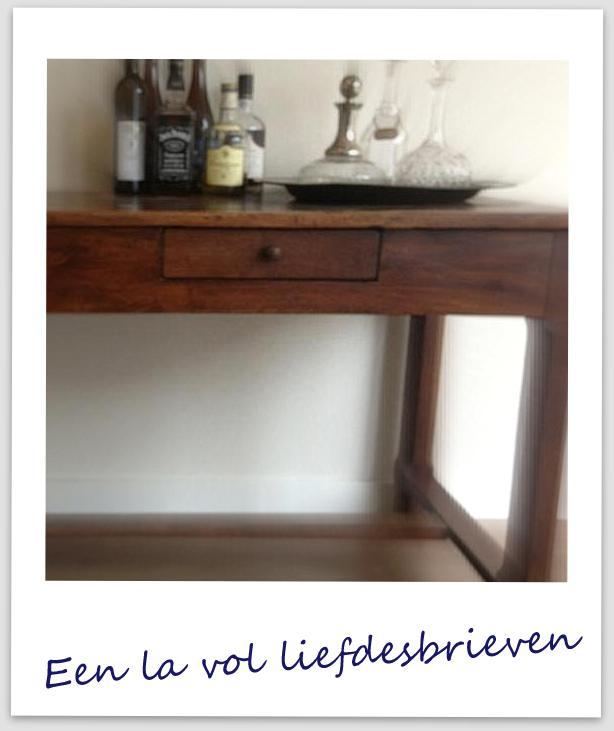 Franse tafel - la vol liefdesbrieven - verzinnering