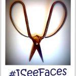 #iseefaces - schaar - verzinnering