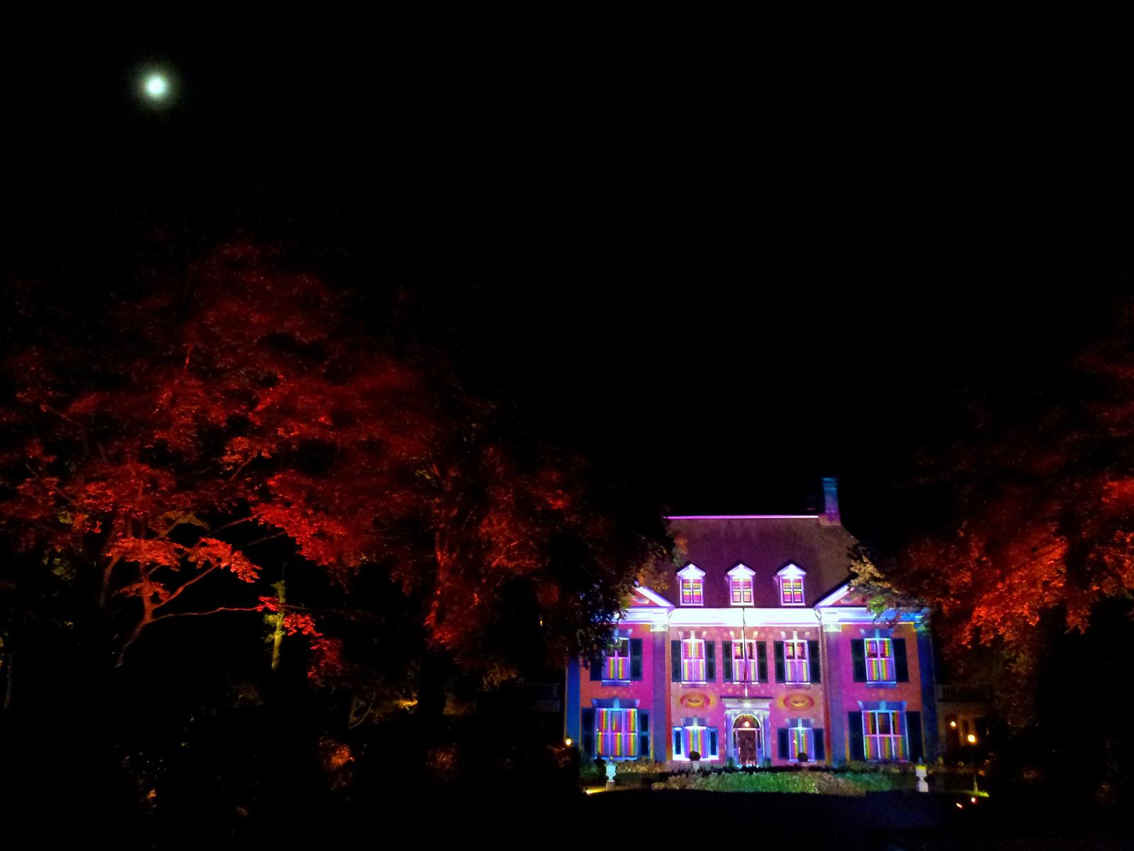 Huize de Laak tijdens lichtfestival Glow Eindhoven 2013