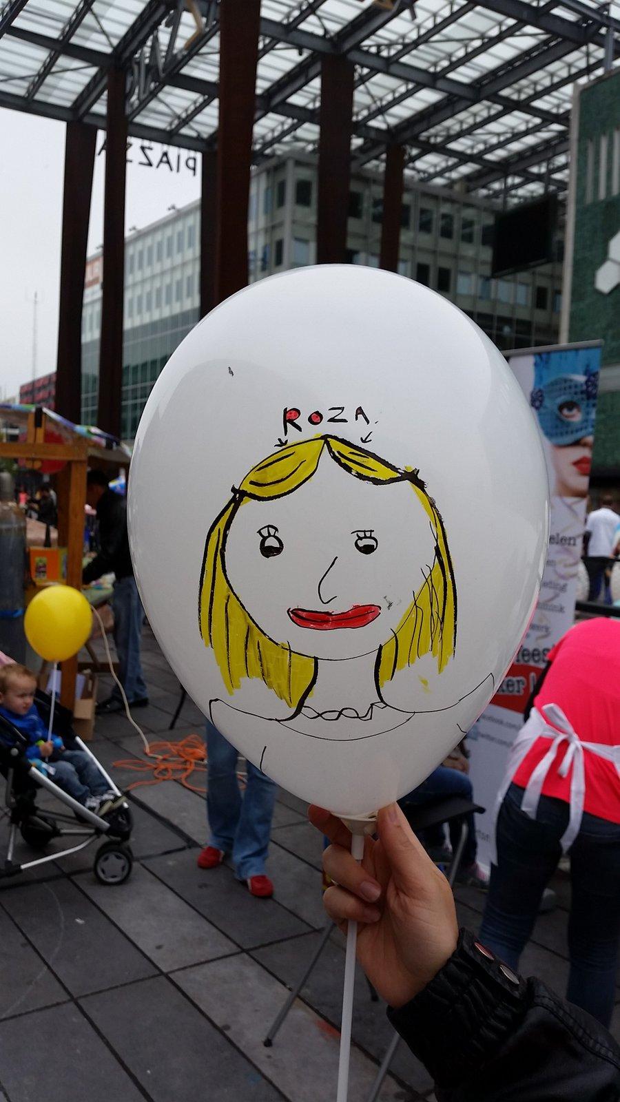 Big Draw Eindhoven - Ballon door Roos