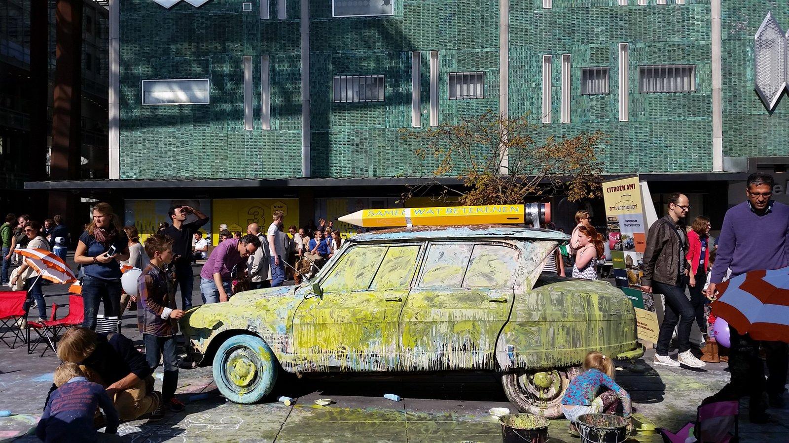 Big Draw Eindhoven - auto beschilderen