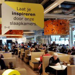 Slaapkamer reclame in restaurant IKEA Eindhoven