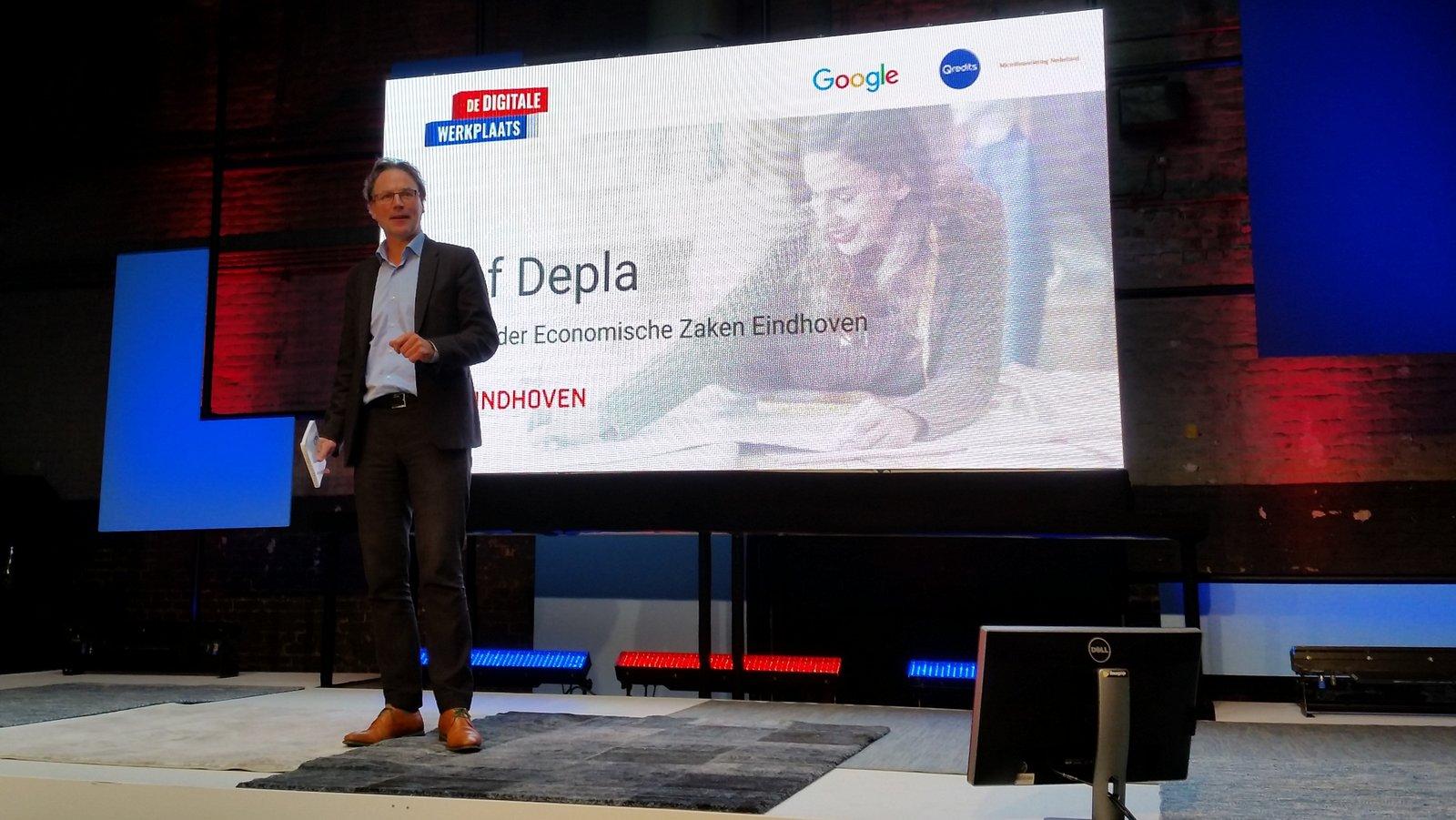 Opening Google Digitale Werkplaats Eindhoven door Wethouder Economische Zaken Staf Depla