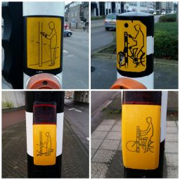 Verkeerslicht mannetje voetganger en fietser