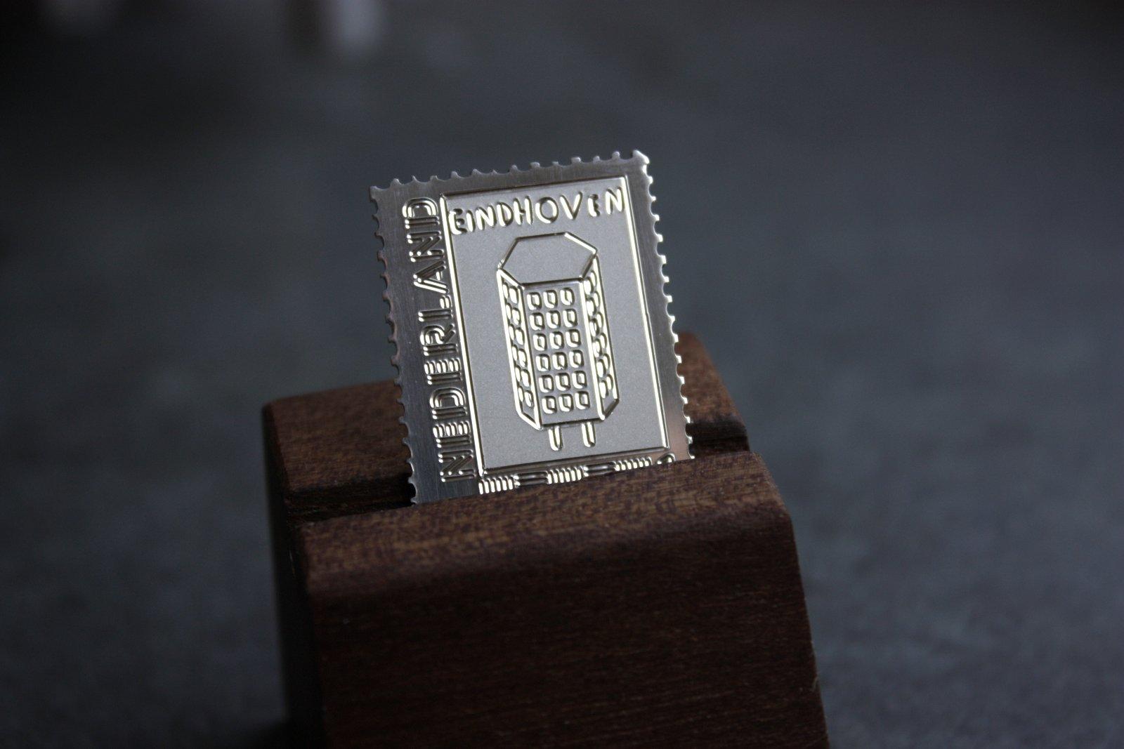 Zilveren Postzegel van Eindhoven - Lichttoren - Wijen Goudsmeden -
