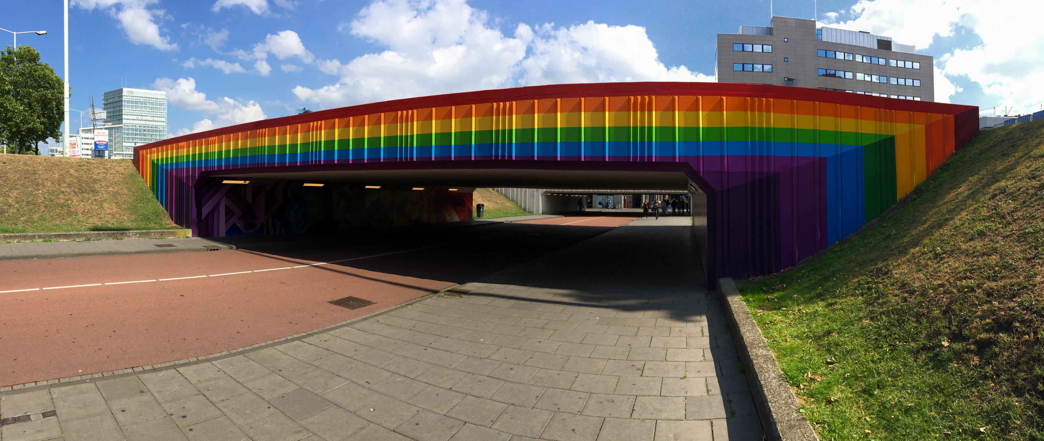 Regenboogtunnel Fellenoord Eindhoven