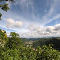 Schwäbische alb: Fietsen op een ebike vanaf kasteel Lichtenstein
